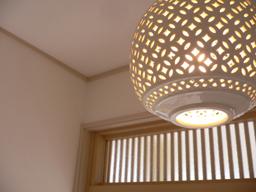 玄関 照明 和風住宅