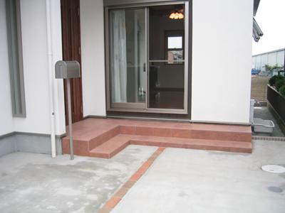 玄関 広く タイル