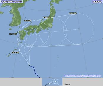 台風6号 進路