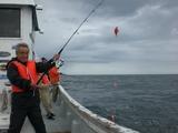 魚釣り市川さん三匹