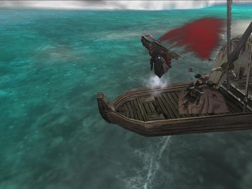 船の上からこんぬつは!