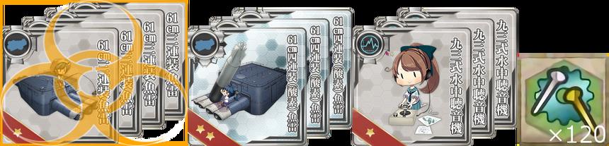 潜水艦武装の強化必要装備