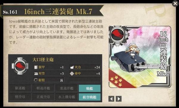 16inch三連装砲 Mk.7