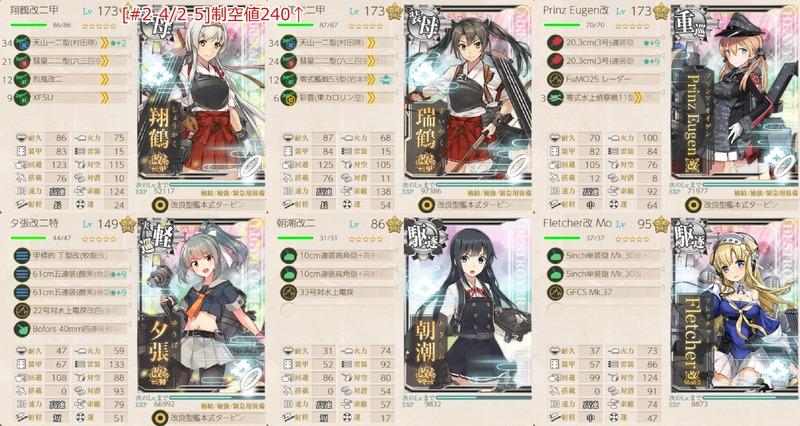 [#2-4/#2-5]編成:【航空母艦特別任務】航空戦隊、精鋭無比!