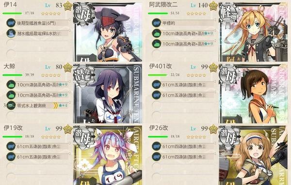 潜水艦隊、中部海域の哨戒を実施せよ!編成