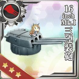 16inch Mk.I三連装砲