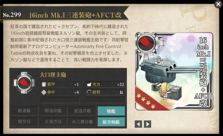 16inch Mk.I三連装砲+AFCT改