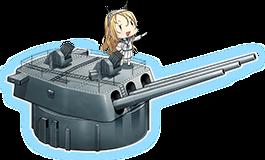 16inch Mk.I三連装砲改+FCR type284 combi