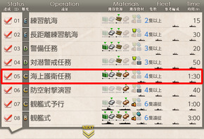 兵站強化遠征任務【拡張作戦】1