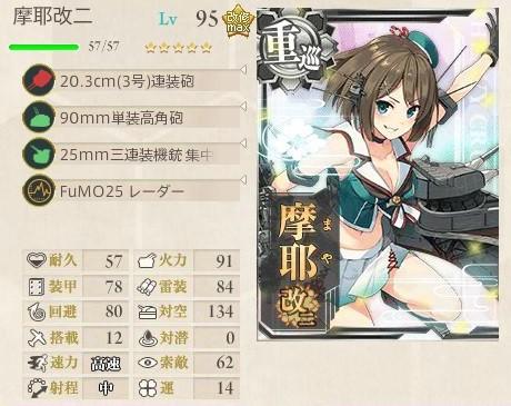 摩耶改二 夜戦連撃+対空カットイン型