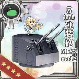 5inch連装砲 Mk.28 mod.2