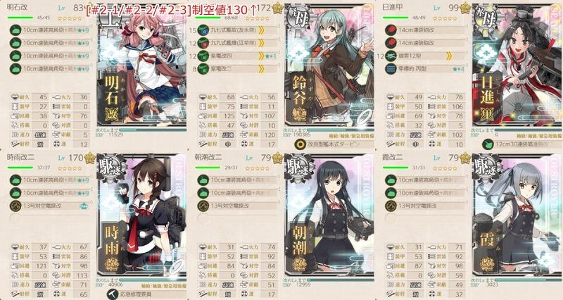 [#2-1/#2-2/#2-3]編成:工作艦「明石」護衛任務