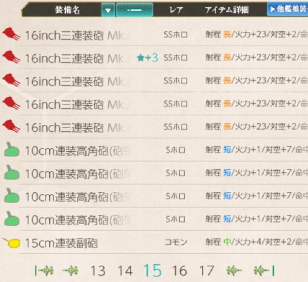 16inch三連装砲 Mk.6 mod.2