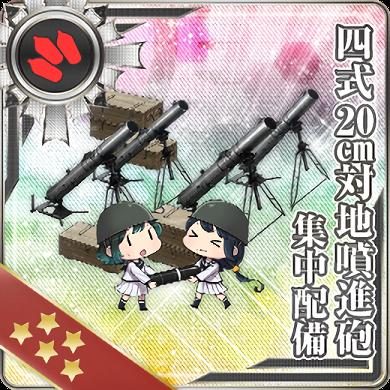 四式20cm対地噴進砲 集中配備