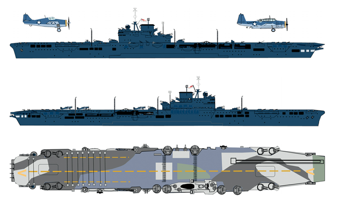 USS Robin HMS Victorious(US Navy blue)