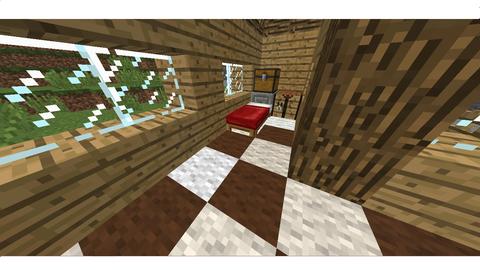 ウサギ飼いの家の内装