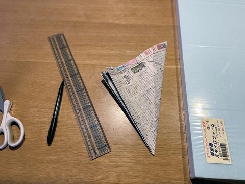 丸い型紙作り