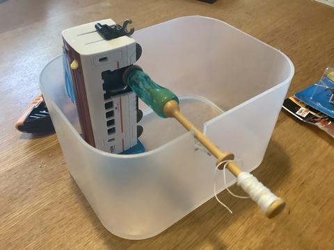 ボビン自動糸巻き機完成