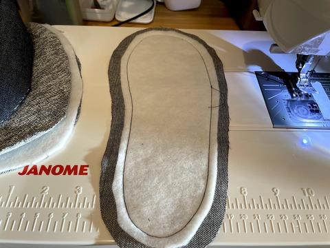ズレ防止に縫う