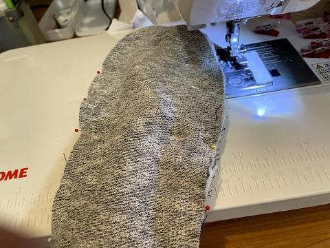 裏布から縫う