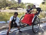 猿沢池の畔 興福寺五重塔と人力車