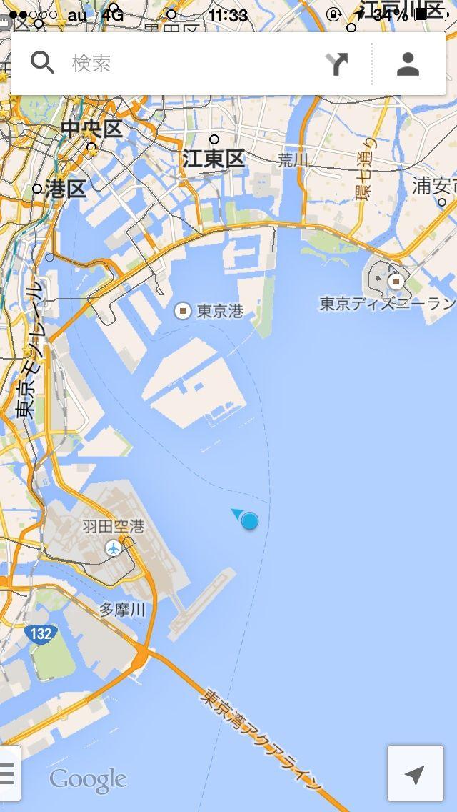 あいにくの空模様の中、東京湾 ...