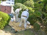 井川宅屋根漆喰作業