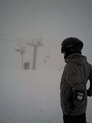 八方尾根スキー場 雲の中 20100228