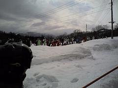 八方尾根スキー場 リフト待ち長い 20100228