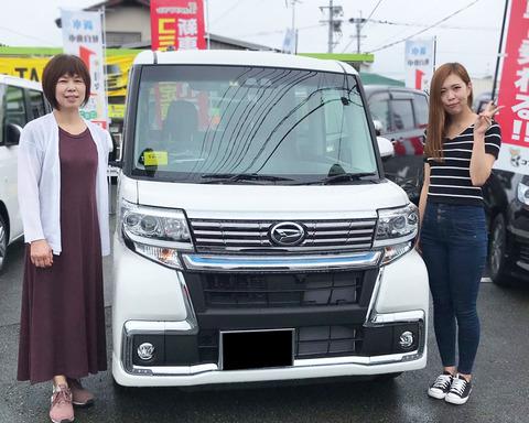 タントカスタムX Top EditionVS SAⅢ 納車
