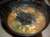 ととち丸 まごころ味噌つけ麺<蟹仕様> 雑炊
