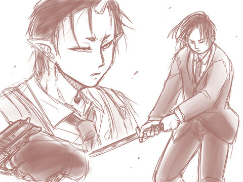 onimaki_上海金魚落書き_vs日本刀
