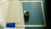 サンドブラスト「作業中」フォトフレーム(カバーガラス)彫り前