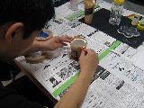 サンドブラスト体験(養生中)[2010.06.27]