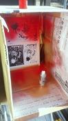 サンドブラスト「作業中」額入りミラー(記念品)塗装赤