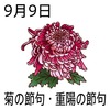09重陽(菊)の節句(0909)