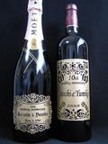 サンドブラスト作品[シャンパン&ワイン]W10thA