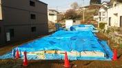 工事進捗(20140418)基礎雨養生