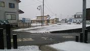 降雪中(20150122)前面道路