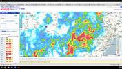 雨雲レーダー2015-07-16