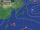 天気図(2012.8.18 03:00)