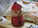 クリスマスケーキ(イチゴの雪だるま)