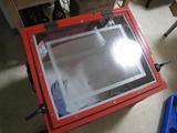 サンドブラストBOX(赤キャビ)覗き窓(完成)