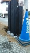 外構工事「門柱」(FRP枕木)5_1