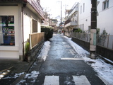 雪かき(自宅前:080204)