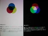 「CMKY」と「RGB」