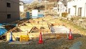 工事進捗(20140410)型枠(立上り)建て込み完了全景