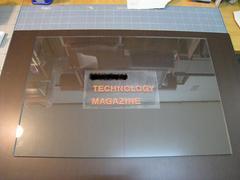 サンドブラスト加工(平板ガラス[全面]300×450)前