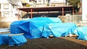 工事進捗(20140419)土台、柱搬入
