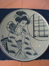 サンドブラスト作品(大皿:陶器)8